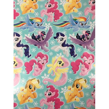 My Little Pony Christmas.My Little Pony Christmas Gift Wrapping Paper 20 Square Feet 1 Roll