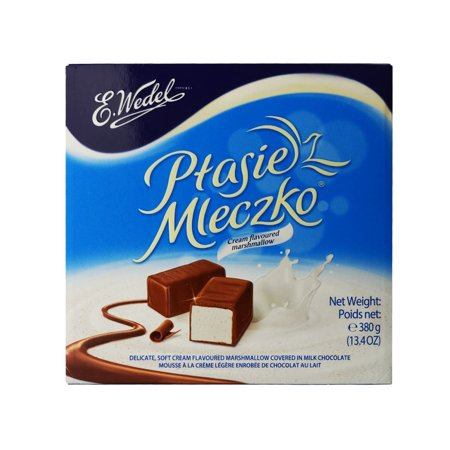 Ptasie Mleczko Creamy Marshmallow Chocolate Covered 13.4 Ounce. Includes Our Exclusive HolanDeli Chocolate