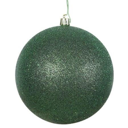 Black Glitter Drilled Ball Ornament, 3 in. - 12 per Bag - image 1 de 1