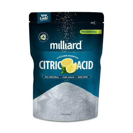 Milliard 100% Pure Food Grade Citric Acid - Non-GMO 2lb.