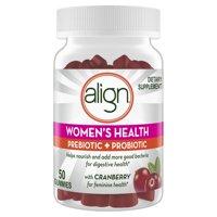 Align Women's Prebiotic Probiotic Supplement Gummies, Cranberry 50 Ct