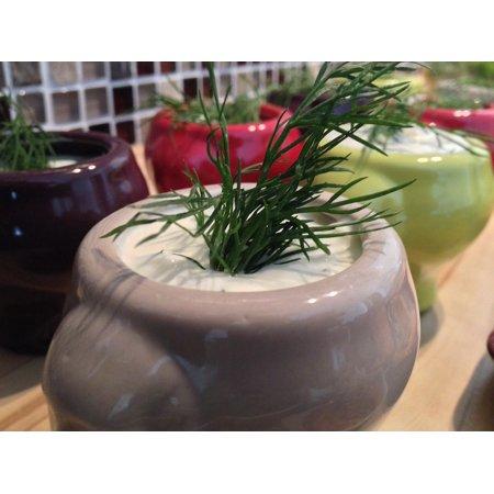 Herb Dip - Canvas Print Herbs Quark Culinary Dip Eat Stretched Canvas 10 x 14