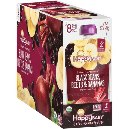 Happy Baby Organics Clearly Crafted Baby Food, Black Beans, Beets & Bananas, 4 Oz x - Uncle Si Happy Happy Happy