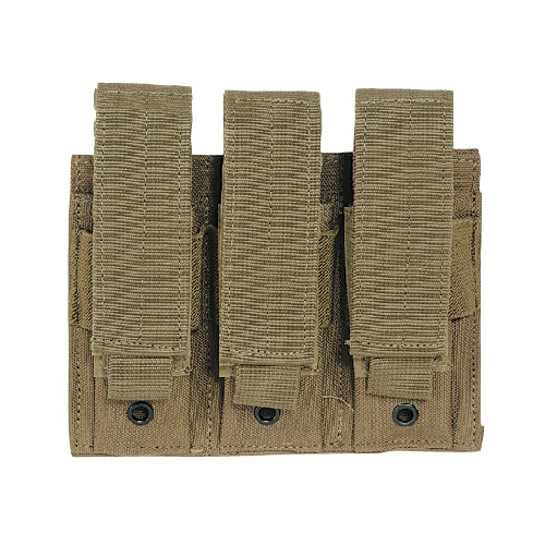 Voodoo Tactical Pistol Mag Pouch - Double, Coyote -