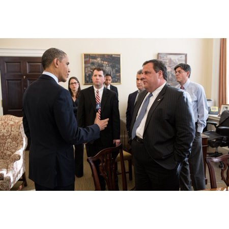 President Obama Greets New Jersey Governor Chris Christie And His Staff In Chief Of Staff Jack LewS West Wing Office Christie Was Seeking Additional Aid For New Jersey In The Destructive Wake Of Hurri](Governor Christie Halloween)