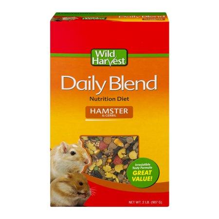 (2 Pack) Wild Harvest Daily Blend Nutrition Diet for Hamsters & Gerbils, 32 oz