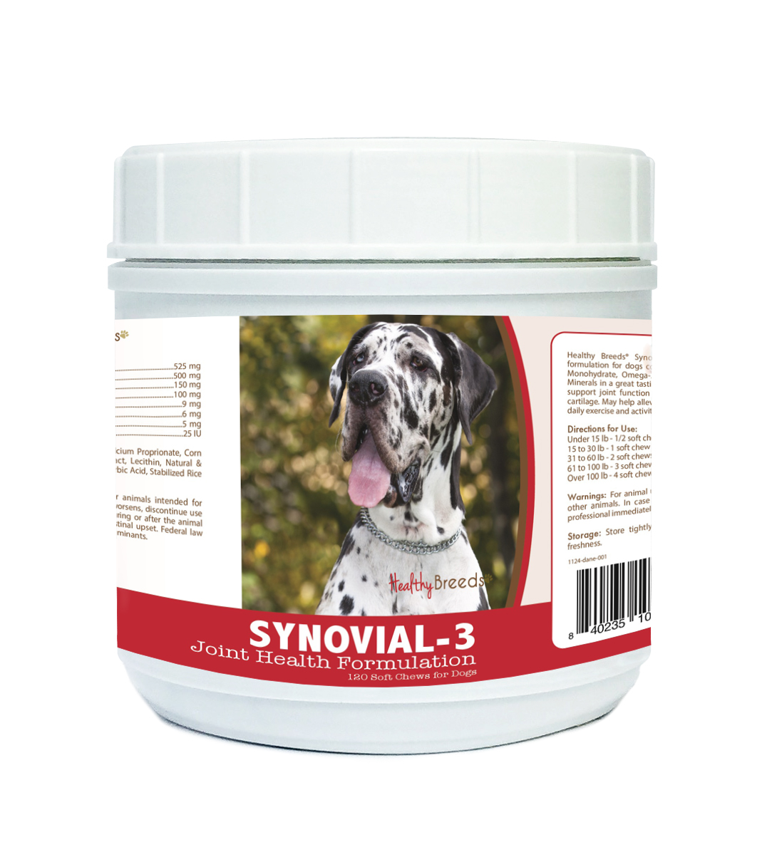 Healthy Breeds Great Dane Synovial - 3 Joint Health Formulation 120