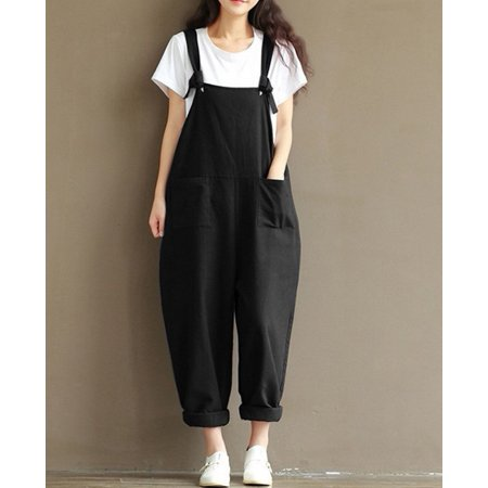 Women's Clothing New Arrival Womens Strap Loose Jumpsuit Casual Dungaree Harem Trousers Girl Overall Pant