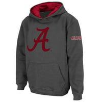 Alabama Crimson Tide Stadium Athletic Youth Big Logo Pullover Hoodie - Charcoal