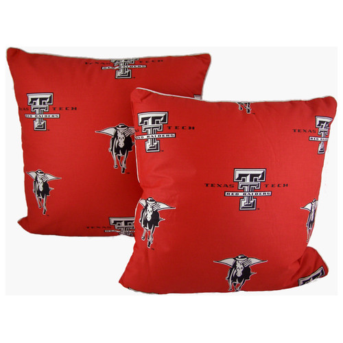 College Covers NCAA Texas Tech Cotton Throw Pillow (Set of 2)