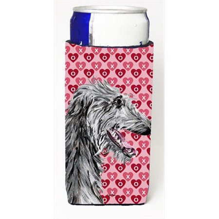 Carolines Treasures SC9717MUK Scottish Deerhound Hearts And Love Michelob Ultra bottle sleeves Slim Cans  12 Oz. - image 1 de 1
