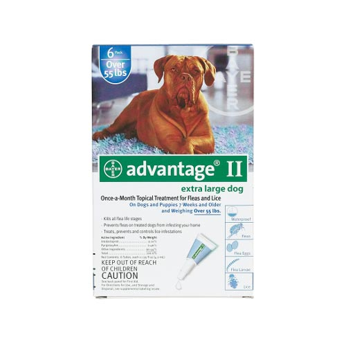 Advantage Flea Control for Dogs And Puppies Over 55 lbs 6 Month Supply by Advantage