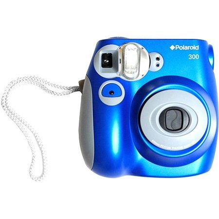 polaroid 300 instant film camera blue. Black Bedroom Furniture Sets. Home Design Ideas