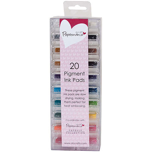 Papermania Mini Pigment Ink Pads, 20pk, Assorted Colors