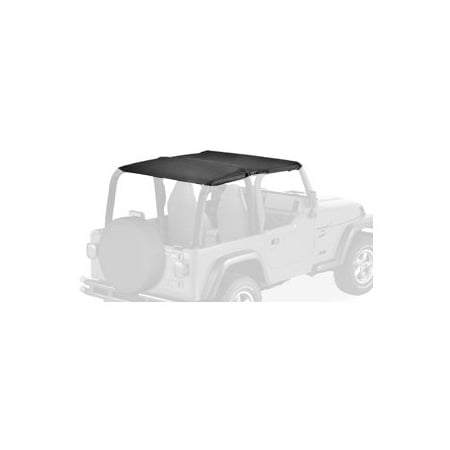 Bestop 52530-15 Jeep Wrangler Safari Ext Length Strapless Safari Style Bikini Top, Black Denim