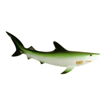 Shark Fin 18 Inches Wall Plaque Ocean Beach Bath Kids Room Decor Green