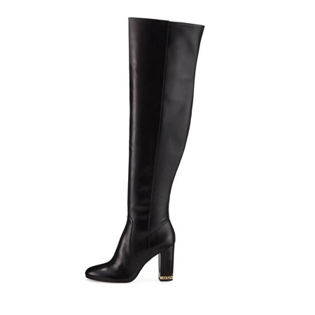 outlet boutique pick up on sale Michael Michael Kors Womens Sabrina Boot Leather Closed Toe, Black, Size 5.5