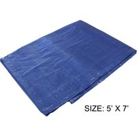 5 Feet x 7 Feet Multipurpose Blue - 3 Mil PE Tarp - Waterproof, 70 GSM (POLY PRO: TB-00507)