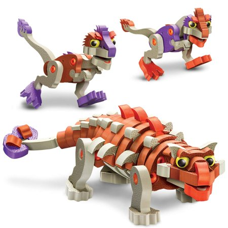Bloco Toys Ankylosaur & Young Raptors | STEM Toy | Jurassic Dinosaurs | DIY Building Construction Set (200 Pieces)](Diy Dinosaur Tail)