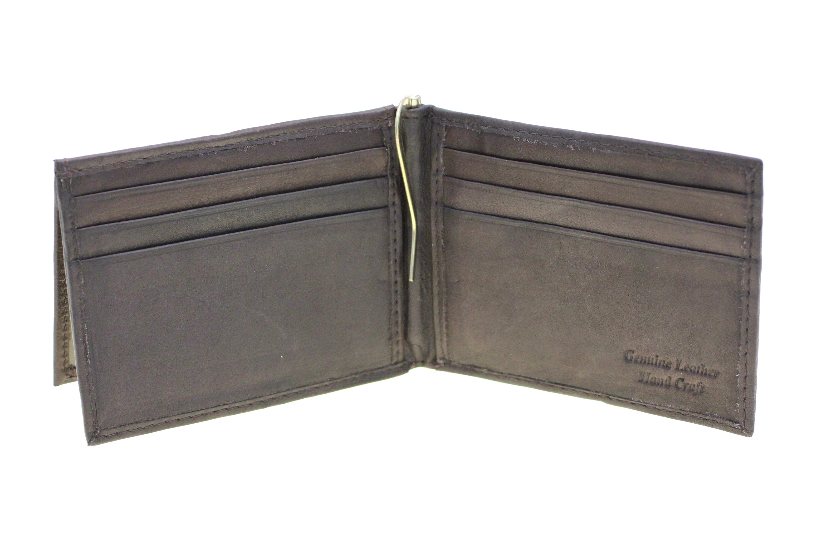 NEW PAUL /& TAYLOR LEATHER BIFOLD FRONT POCKET ID WALLET WITH MONEY CLIP BLACK