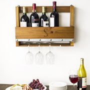 cathy's concepts personalized rustic wine rack