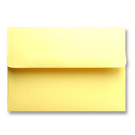 Free Shipping 50 Pastel Canary Yellow Square Flap A6 (4-3/4 X 6-1/2) Envelopes for 4-1/2 X 6-1/4 Greeting Cards Invitations Photos Birth Announcements Showers Christening Wedding By Envelopegallery