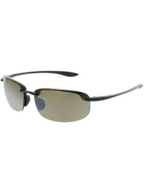 da114a534 Product Image Maui Jim Men's Polarized Hookipa H407-02 Black Semi-Rimless  Sunglasses