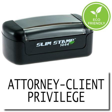 Slim Pre-Inked Attorney-Client Privilege Stamp with Black Ink