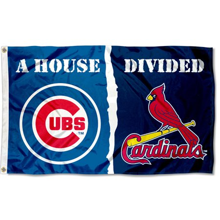 mlb house divided flag - cardinals vs. cubs (Cubs Flag)