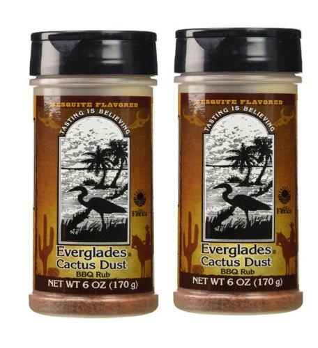 Everglades Seasoning Cactus Dust Mesquite BBQ Rub 2 Pack Gluten Free No MSG by Everglades Foods Inc.