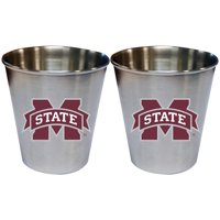 Mississippi State Bulldogs 2oz. Stainless Steel Collector Cups Two-Pack Set - No Size