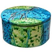Stoneage Arts Handmade Round Bahari Giraffe Soapstone Trinket Box (Kenya)