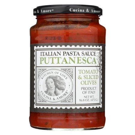 Cucina Antica Garlic Marinara - Cucina And Amore Pasta Sauce - Puttanesca - Case Of 6 - 16.8 Oz.