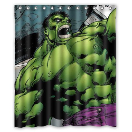 DEYOU Incredible Hulk Shower Curtain Polyester Fabric Bathroom Size 60x72 Inches