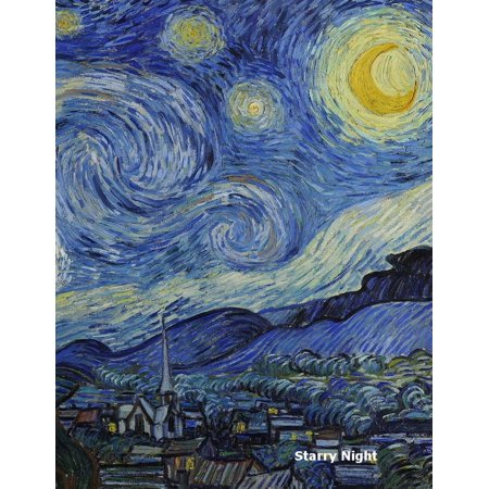 Starry Night Journal / Notebook. Graph Paper / Grid Paper. 120 Pages, 1 CM Squares, 8.5 X 11 Inch Format.: Starry Night by Vincent Van Gogh