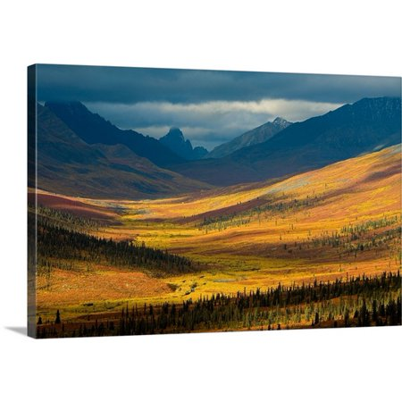 Great Big Canvas John Sylvester Premium Thick Wrap Canvas Entitled North Klondike River Valley  Tombstone Territorial Park  Yukon  Canada