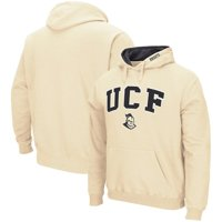 UCF Knights Colosseum Arch & Logo Tackle Twill Pullover Hoodie - Vegas Gold