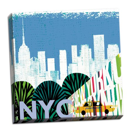 Gango Home Decor Contemporary New York City Life NYC by Michael Mullan (Ready to Hang); One 12x12in Hand-Stretched Canvas (Michaels Craft Store Nyc)