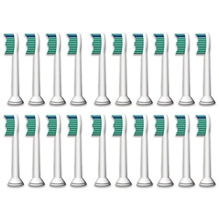 20 Philips Sonicare Compatible VeniCare Toothbrush Heads Replacements HX6014 HX6013 ProResults, fits DiamondClean, EasyClean, FlexCare series, HealthyWhite, Plaque Control and Gum Health -