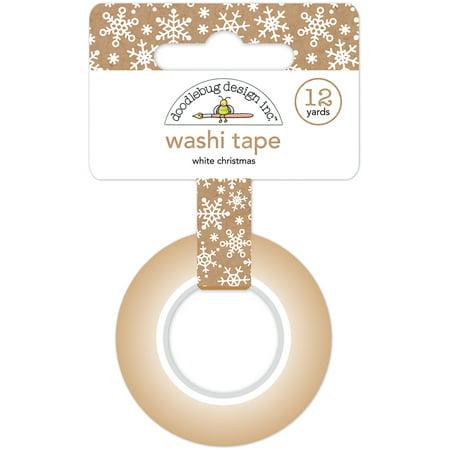 Doodlebug Washi Tape 15mmX12yd-White Christmas - Lily White Doodlebug