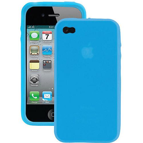 IESSENTIALS IPH4-SC-BL iPhone(R) 4/4S Silicone Skin Case (Blue)