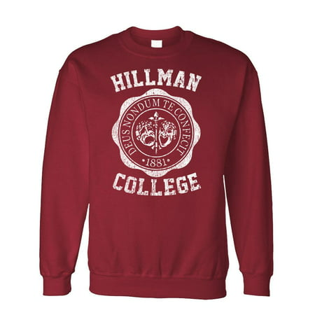 HILLMAN COLLEGE - retro 80s sitcom tv - Fleece Sweatshirt - 80s Attire Male