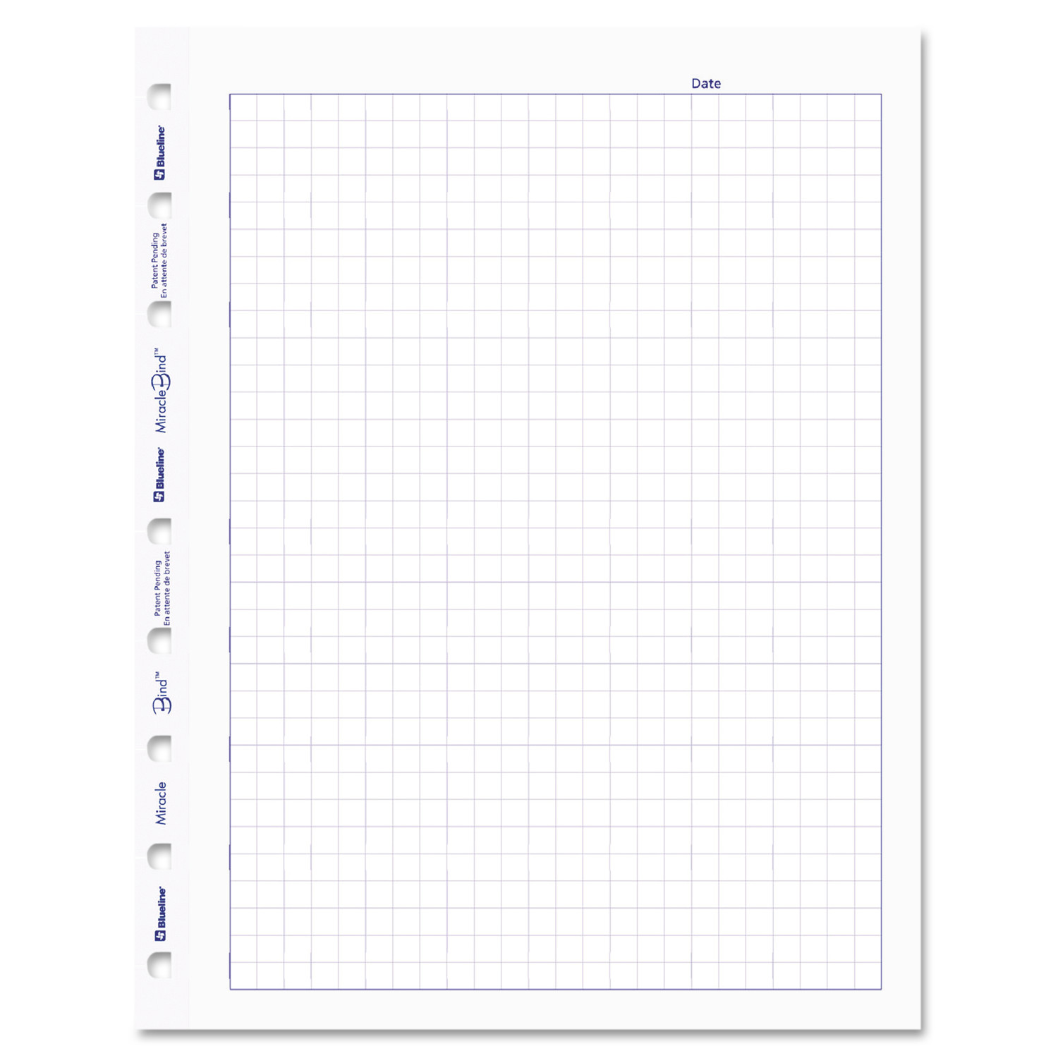 Blueline MiracleBind Quad Ruled Refill Sheets, 9-1/4 x 7-1/4 ...