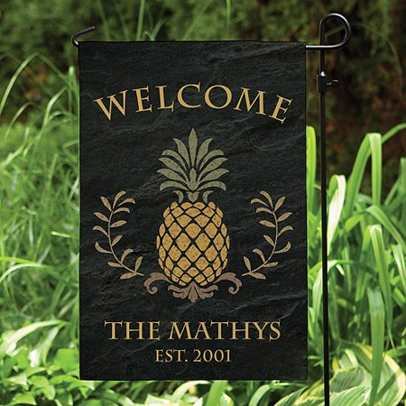 Personalized Pineapple Welcome Garden Flag ()
