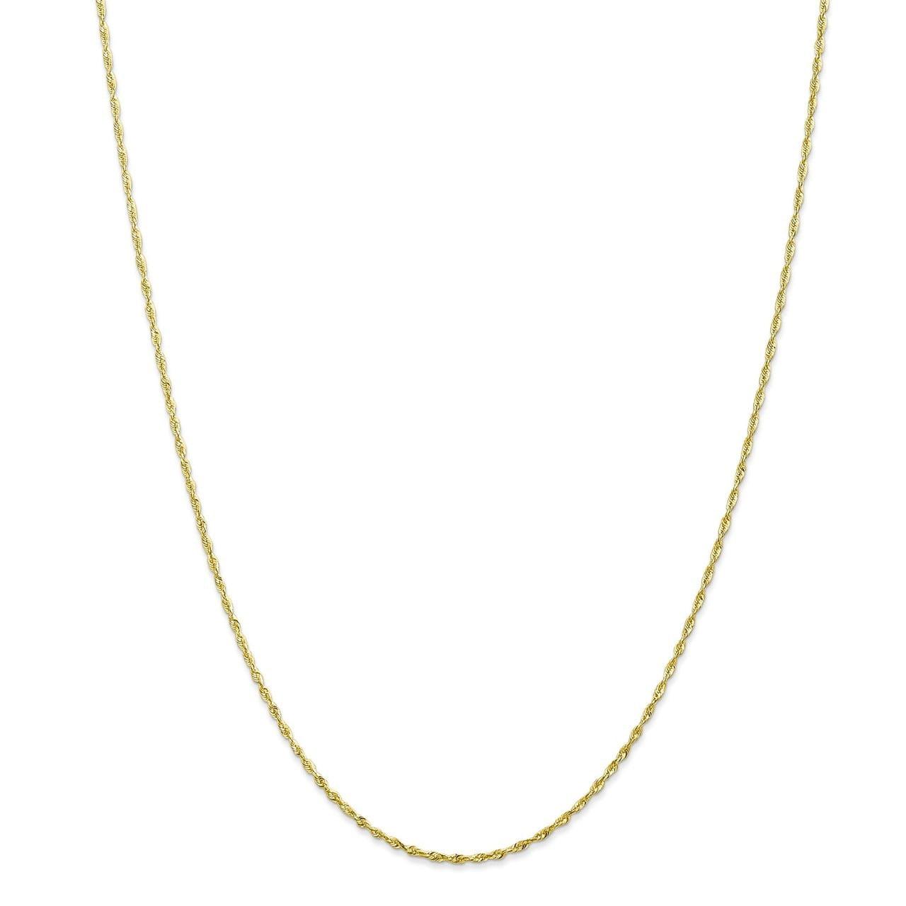 Bonyak Jewelry 14k WG .8mm Round D//C Wheat Chain in 14k White Gold