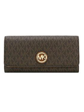 0a741d90180e Product Image Michael Kors Signature Fulton Flap Continental Carryall Wallet,  Vanilla/Acorn