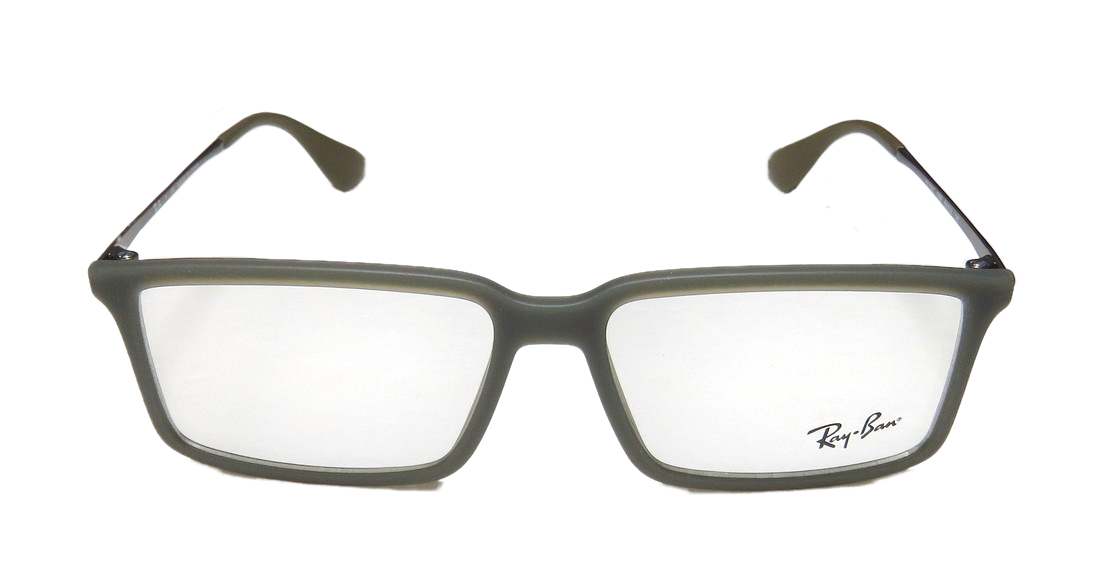 New Ray-Ban 7043 Mens/Womens Rectangular Full-Rim Dark Olive / Gray