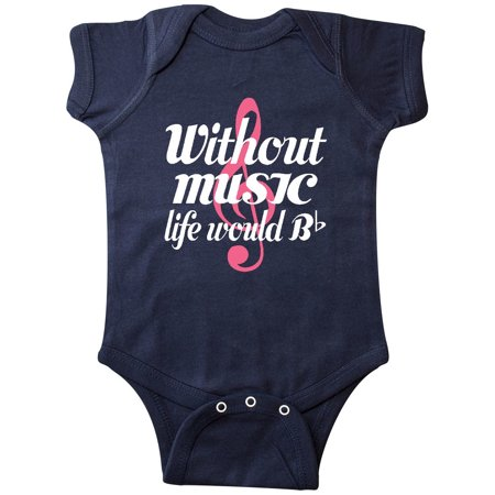 Without Music Life Would Be Flat Infant Creeper