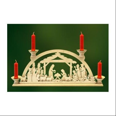 German wood nativity christmas candle arch for Arch candle christmas decoration