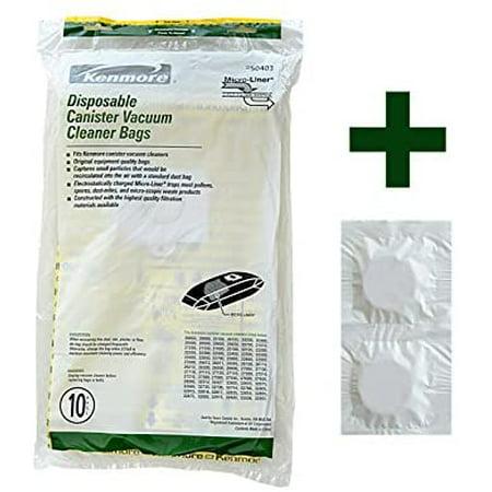 Kenmore Disposable Canister Vacuum Cleaner Bags 50403, 10 + Bonus Scent Tablets - image 2 de 2